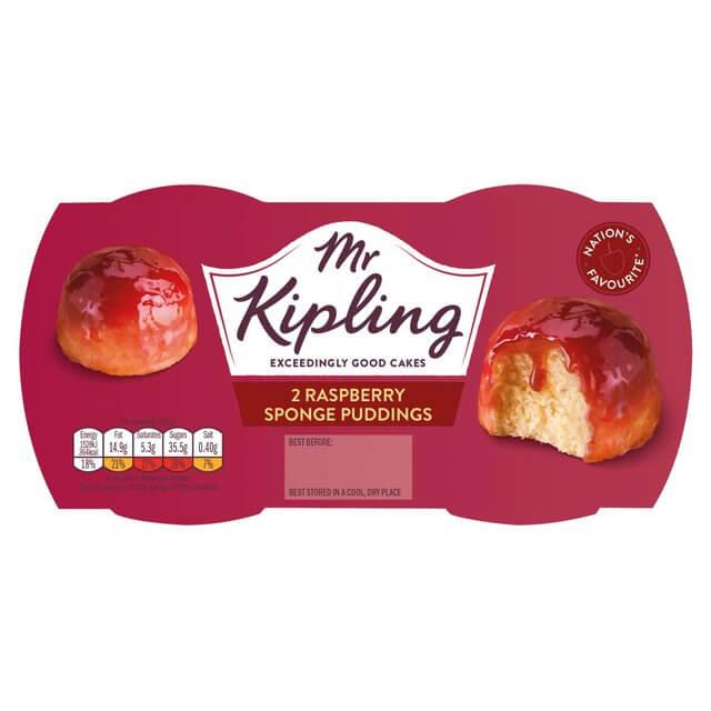 Mr Kipling Raspberry Sponge Puddings 2 x 95g