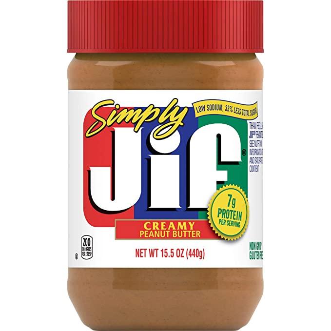 JIF Simply Creamy Peanut Butter 440g