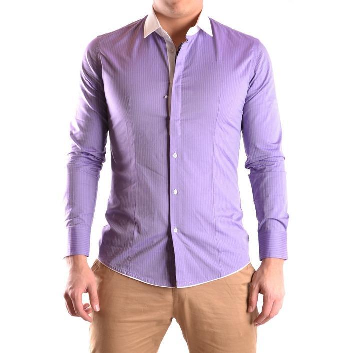 Daniele Alessandrini Men's Shirt Purple 163088 - purple 40