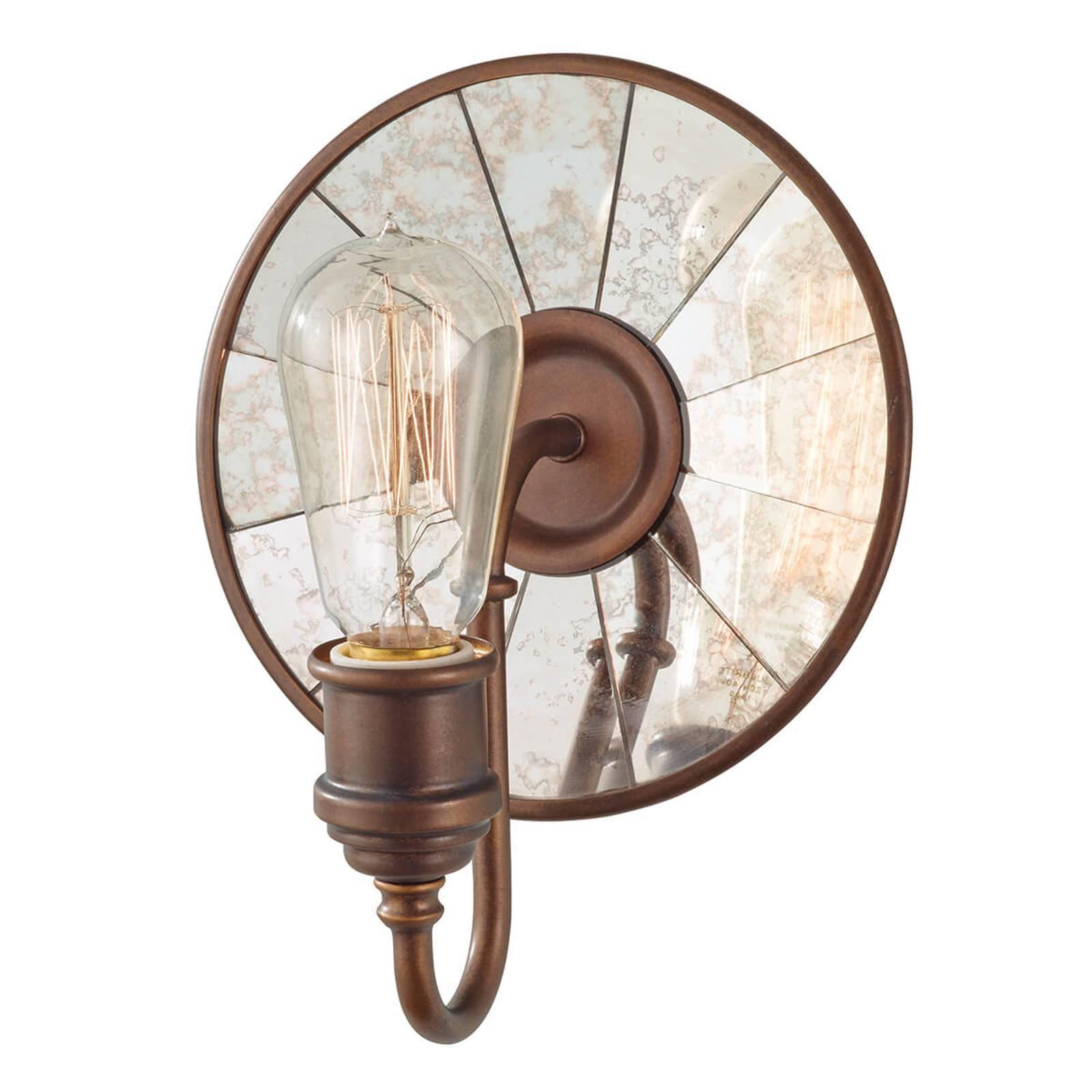 Vegglampe Urban Renewal med speilglass i bronse