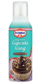 Dr. Oetker Easy Swirl Cupcake Icing Chocolate 180g