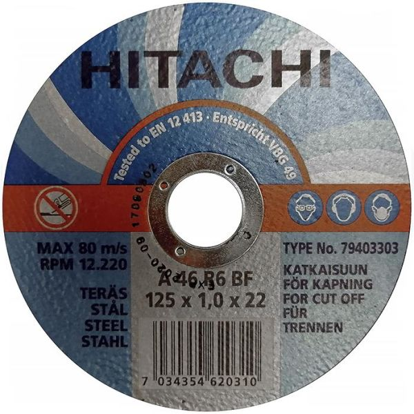 Hitachi 79403303 Kappskive Ø125x1,0 mm