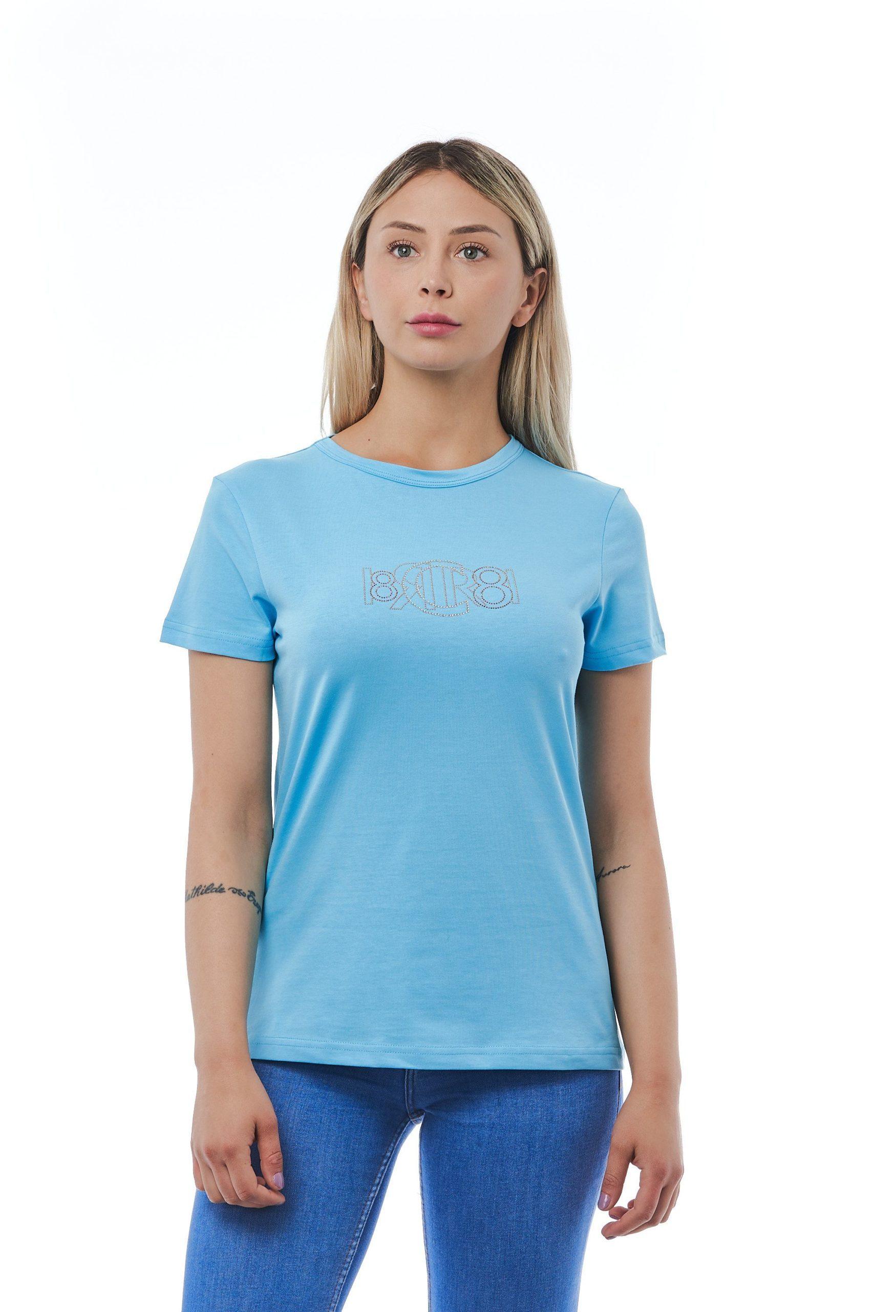 Cerruti 1881 Women's Azzurro T-Shirt Light Blue CE1410171 - L