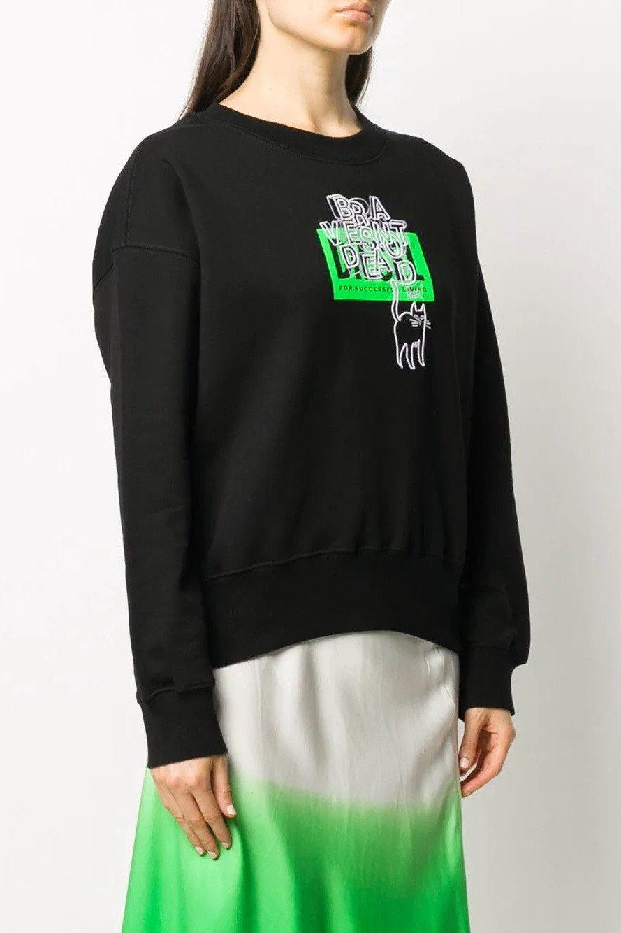 Diesel Women's Sweatshirt Various Colours 312555 - black-2 S