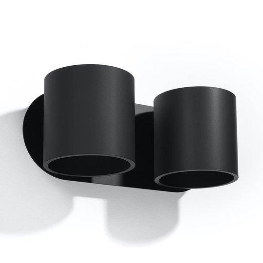 Mirza vegglampe up/down 2 lyskilder i svart