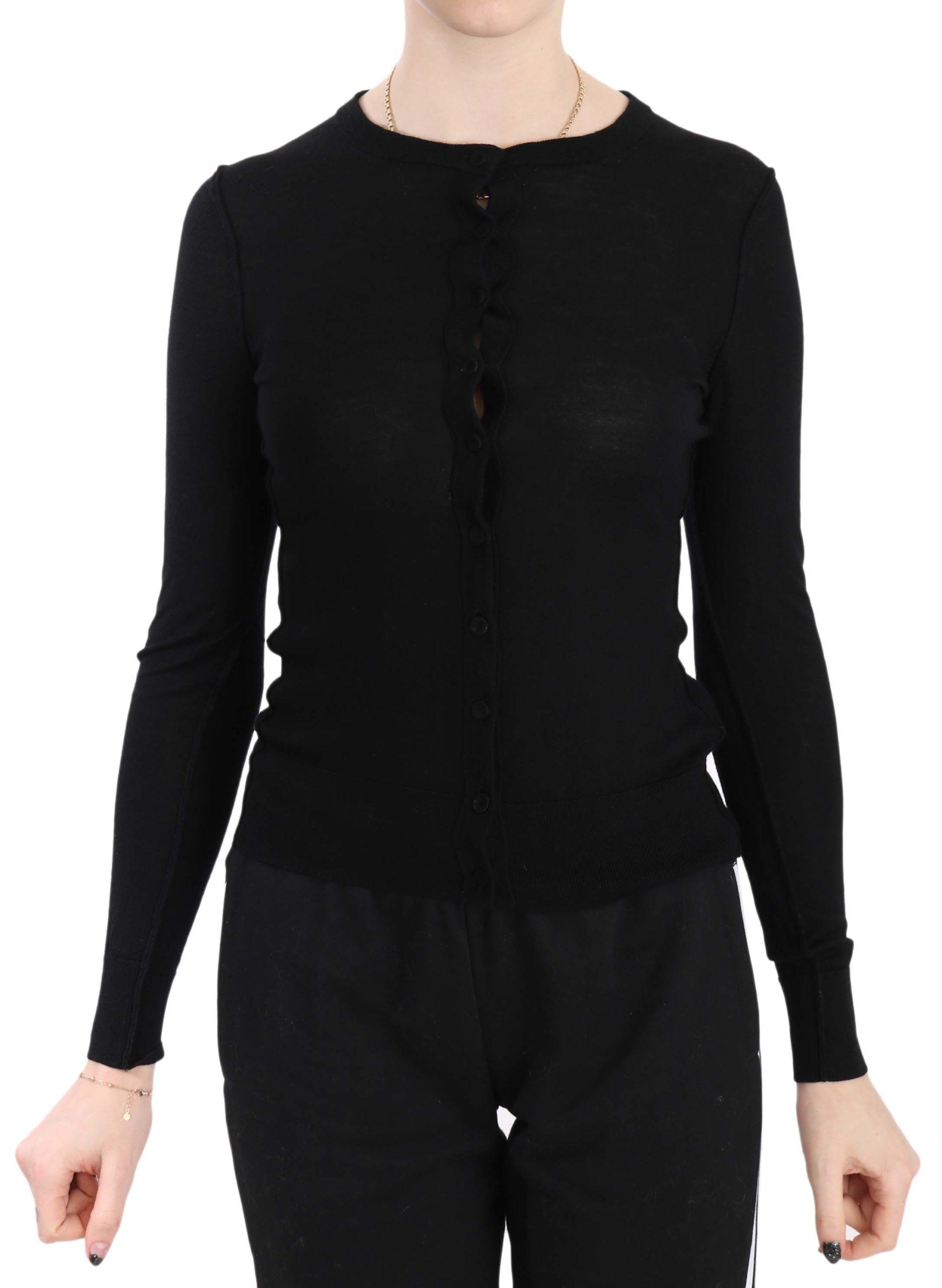 Dolce & Gabbana Women's Wool Cardigan Black TSH3220 - IT40|S