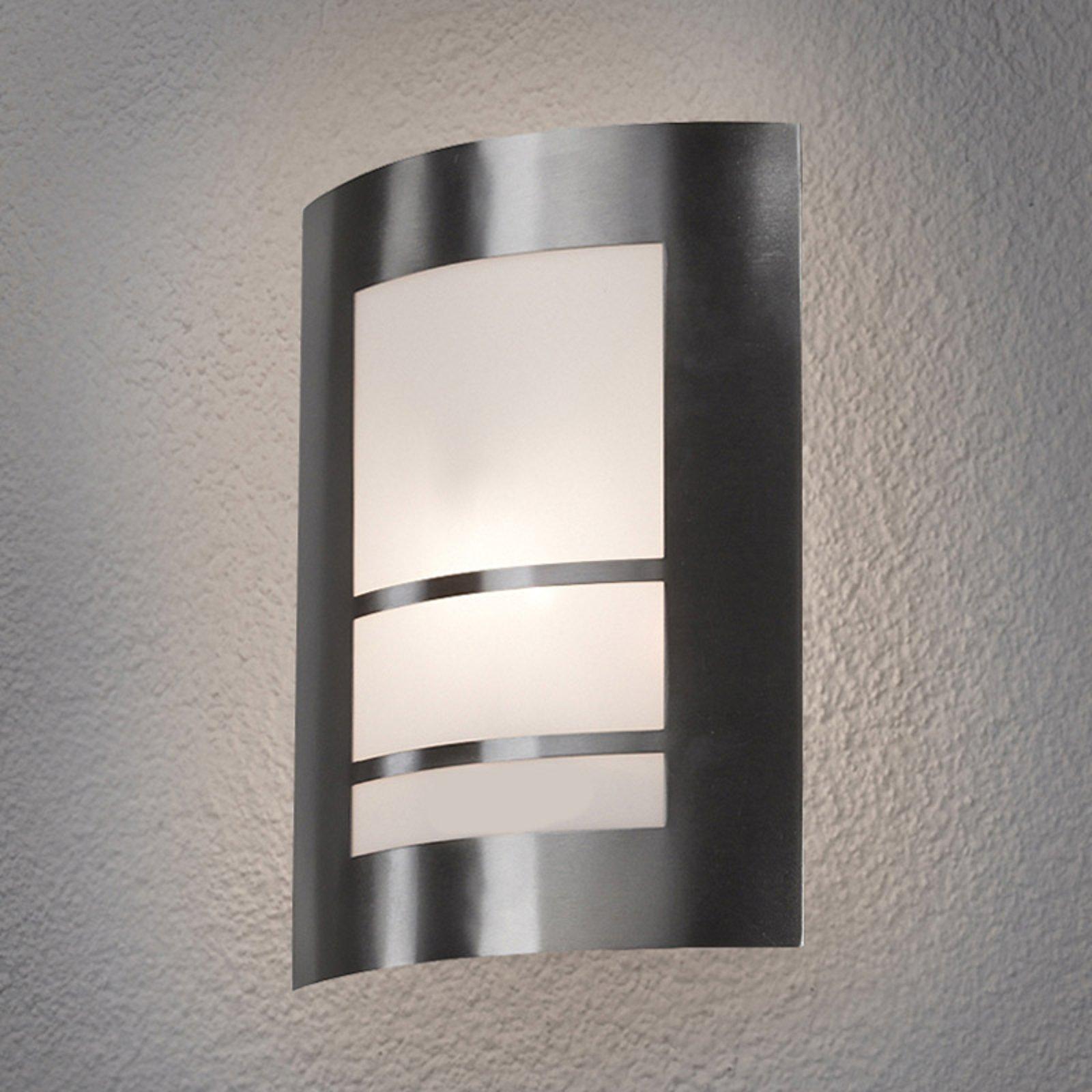 Vakker LED-utelampe for vegg Katalea i sølv