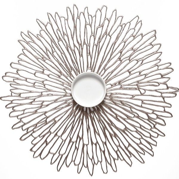 Chilewich I Bloom Placemat I Gunmetal