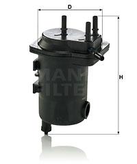 Polttoainesuodatin MANN-FILTER WK 939/10 x