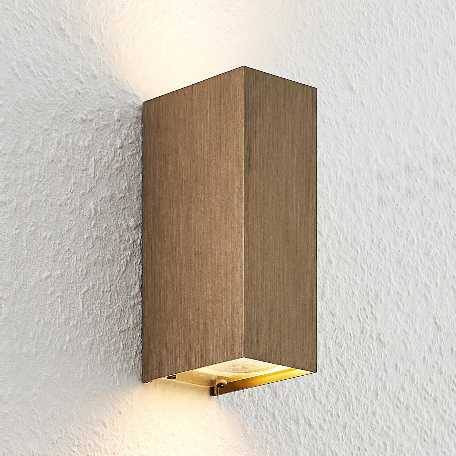Arcchio Maruba -seinälamppu 2-lamppuinen ruskea