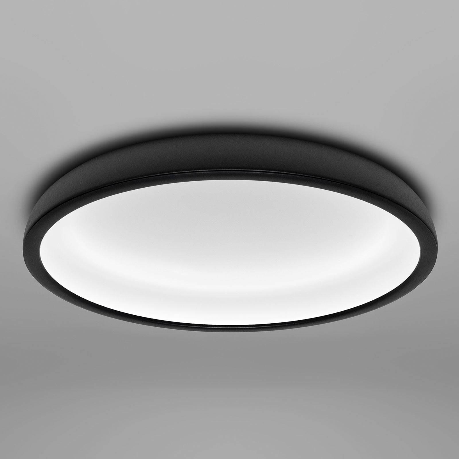 LED-kattovalaisin Reflexio, Ø 46 cm, musta