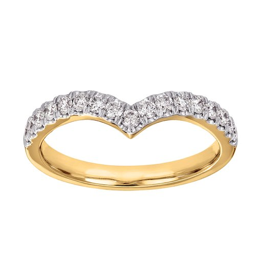 Diamantring 18K guld, 18.0