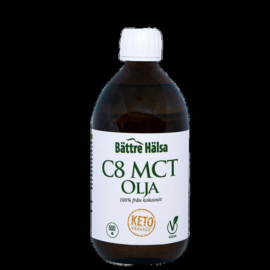 Bättre Hälsa C8 MCT Olja, 500 ml