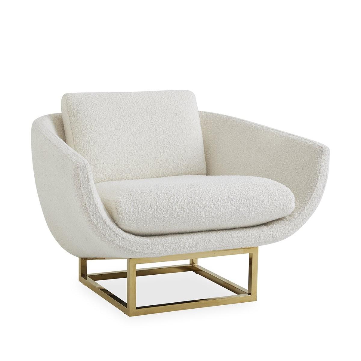 Jonathan Adler I Beaumont Lounge Chair I Olympus Ivory