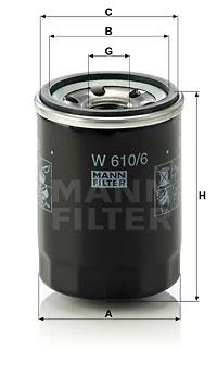 Öljynsuodatin MANN-FILTER W 610/6
