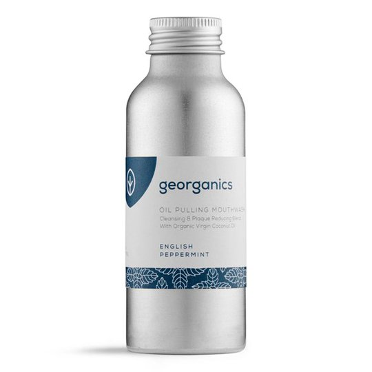Georganics Naturlig Munskölj English Peppermint, 100 ml
