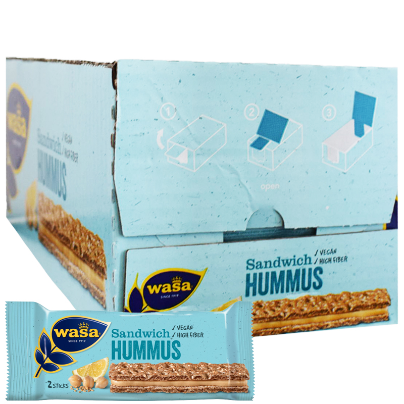 "Hel Låda ""Sandwich Hummus"" 24 x 32g - 38% rabatt"