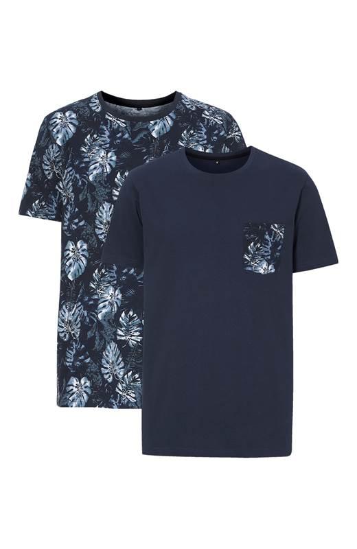 Cellbes T-shirt 2-Pack Marin Mönstrad