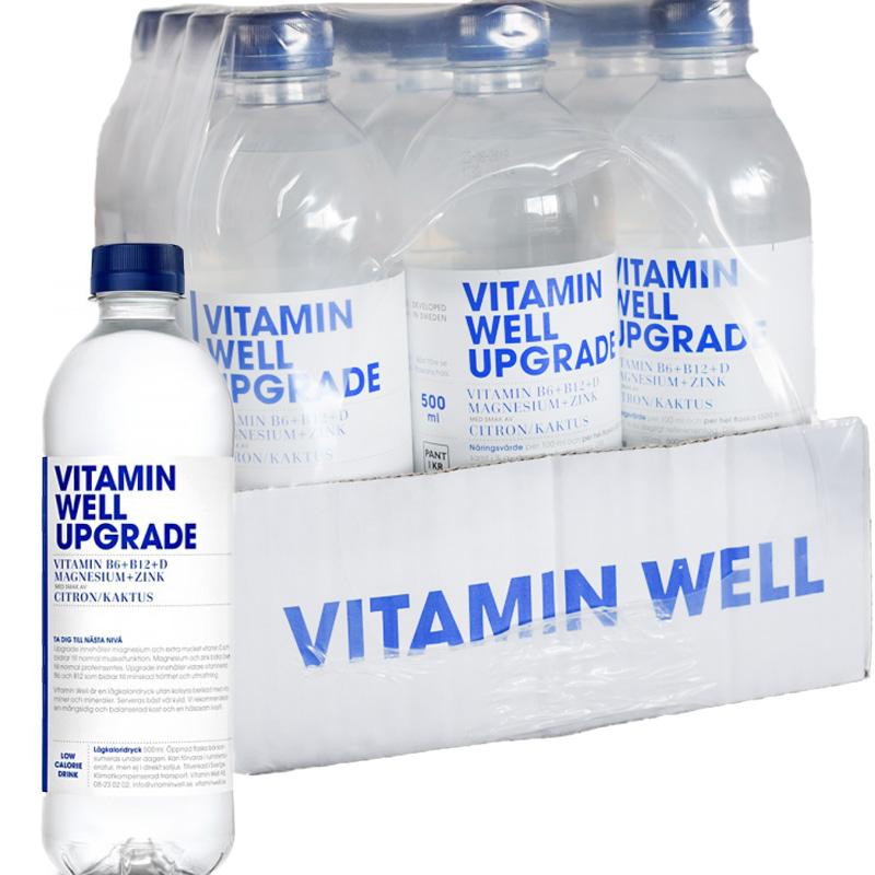 """Hel låda Dryck """"Vitamin Well Upgrade"""" Citrus Kaktus 12 x 500ml - 59% rabatt"""