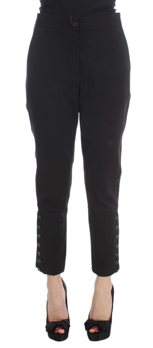 Ermanno Scervino Women's Capri Cropped Trousers Black SIG30401 - IT40|S