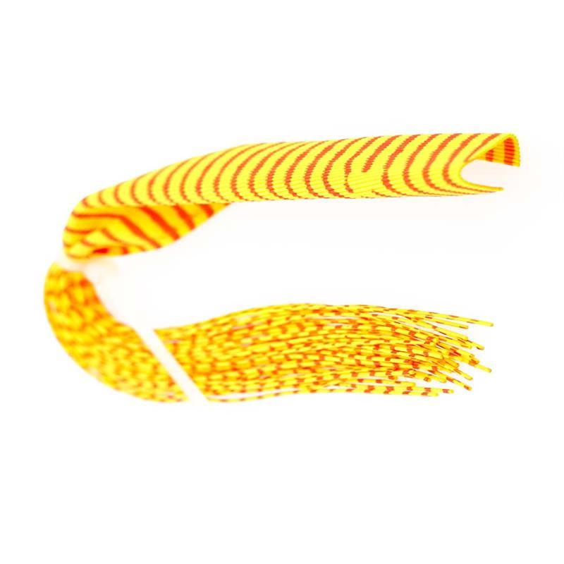 Barred Round Rubberlegs Orange/Yellow