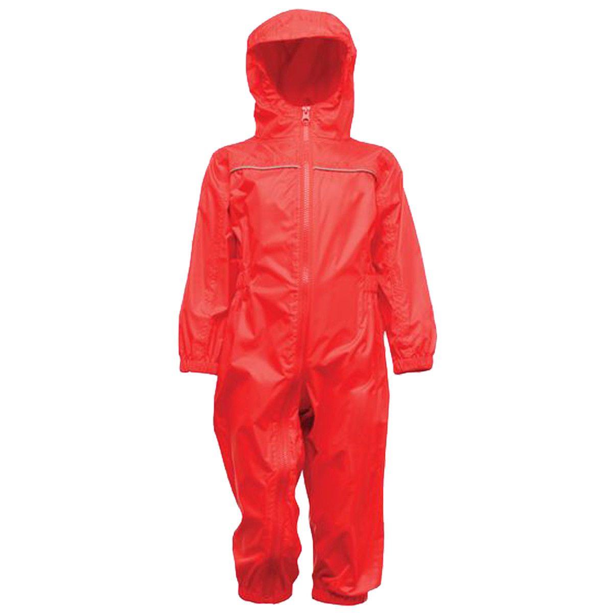 Regatta Kid's Breathable Rain Suit Various Colours L_TRW466 - Classic Red 6 to 12 Months