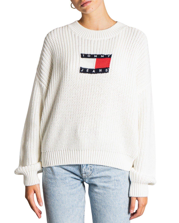 Tommy Hilfiger Jeans Women's Sweater Black 319790 - white XS
