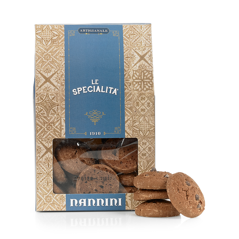 Chocolate Orange Biscuits with Chocolate Chips 300g by Nannini