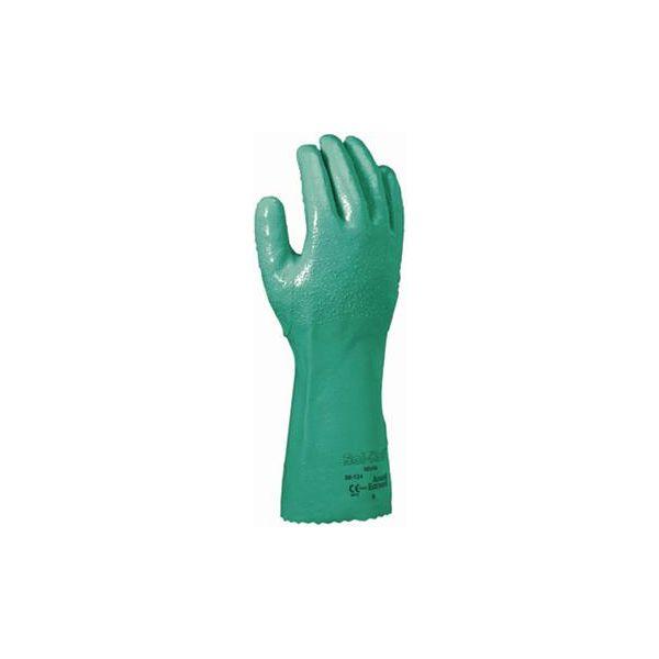 Ansell Solknit 39-124 Hanske Kjemisk beskyttelse, nitril, grønn Str. 8