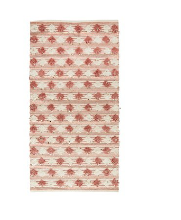 Teppe 170x90 cm - Dusty rose/offwhite