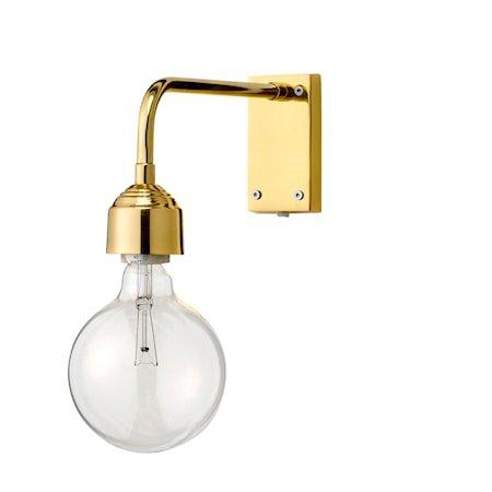 Vegglampe Gull Metall 13x27cm