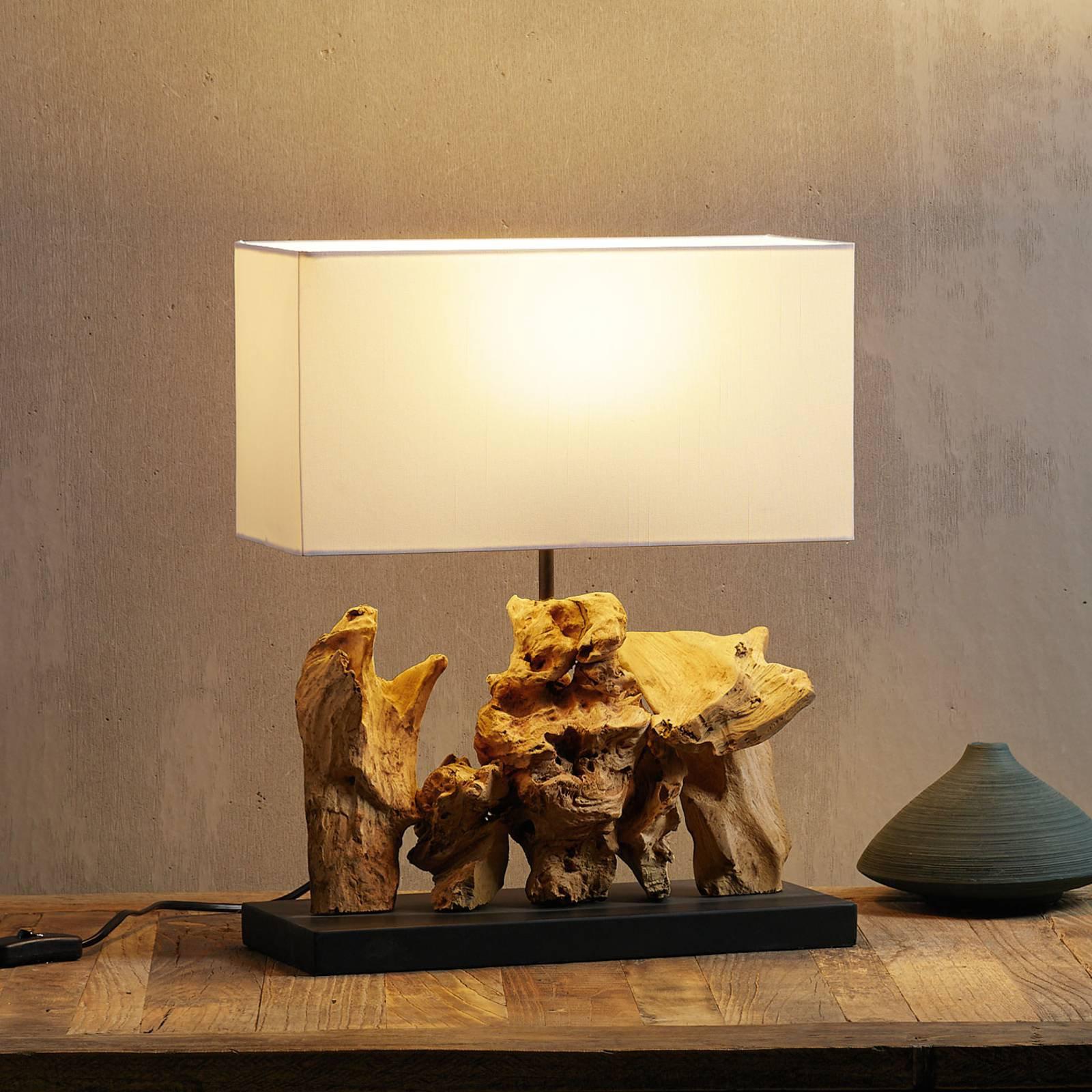 KARE Nature Vertical bordlampe fot av drivved