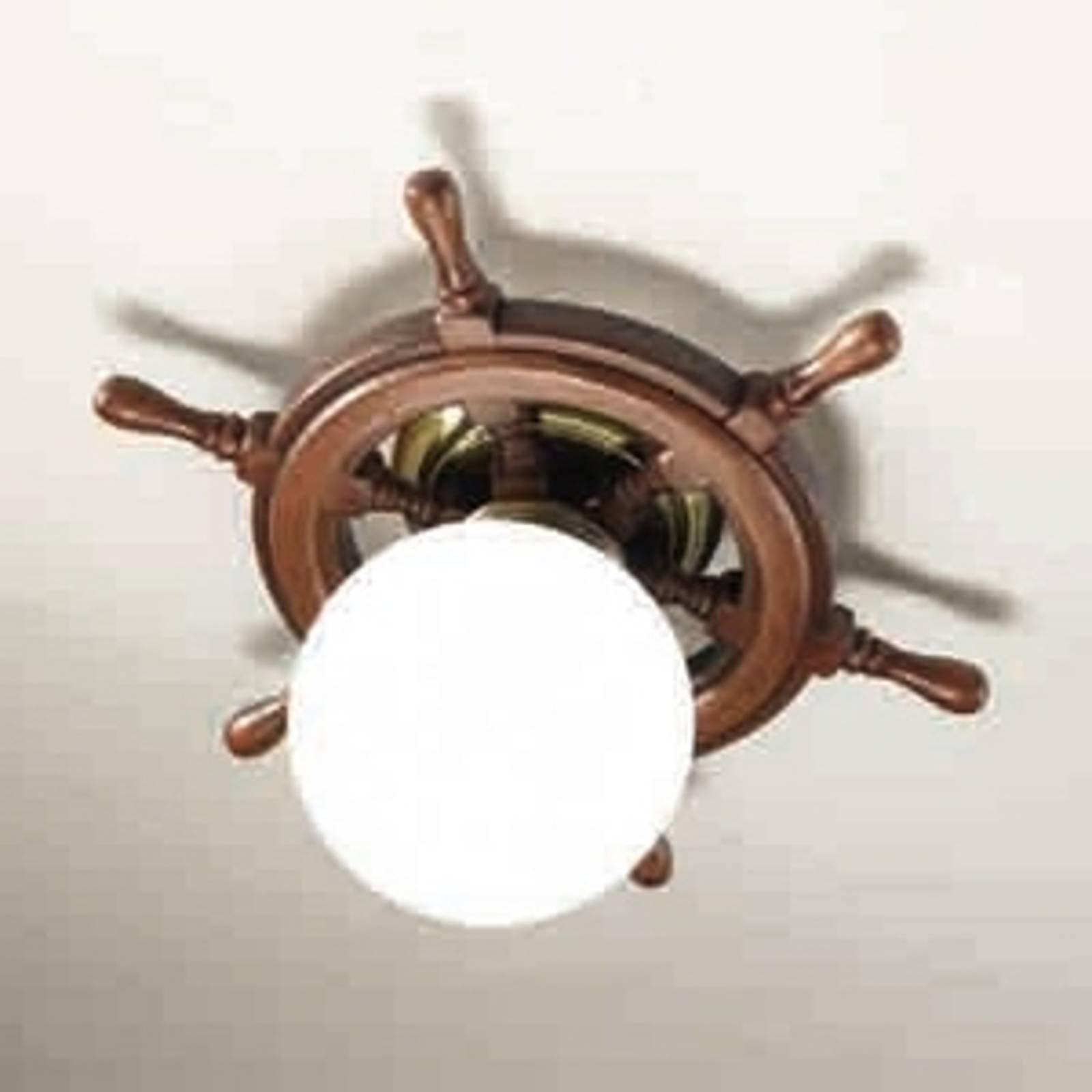 Vakker Timone taklampe med hvite kuleglass