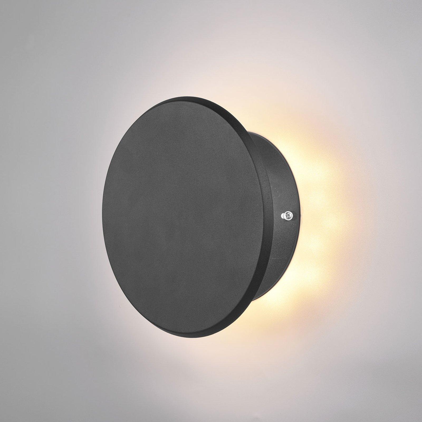 LED-vegglampe Gaston, svingbar, svart