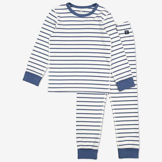 Stripet todelt pyjamas. blå