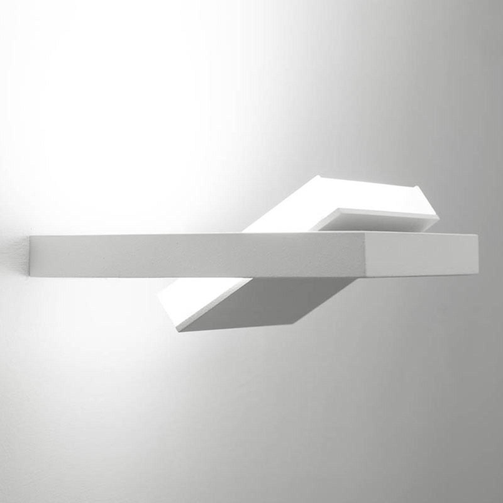 Tablet W1 LED-vegglampe, bredde 16 cm, hvit