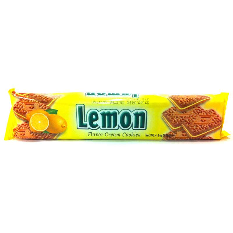 Fyllda kex med smak av citron - 28% rabatt