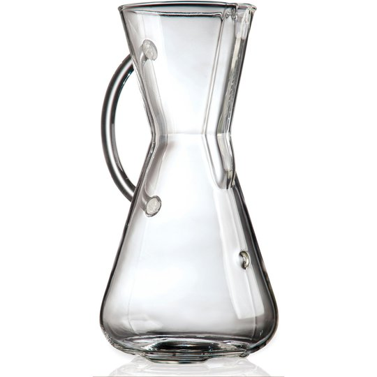Chemex Kaffebryggare 3 Koppar Glass Handle