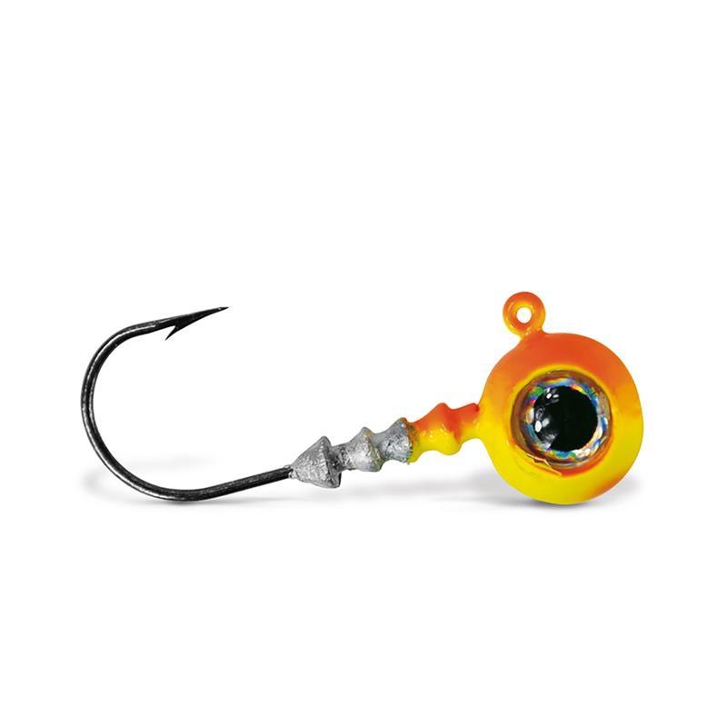 VMC Big Eye Jigghode Orange 7g Rundt Jigghode med øye og sterk krok