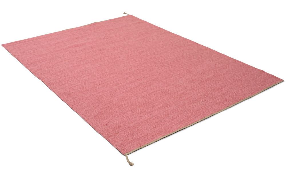 Sofiero rosa - håndvevd ullmatte