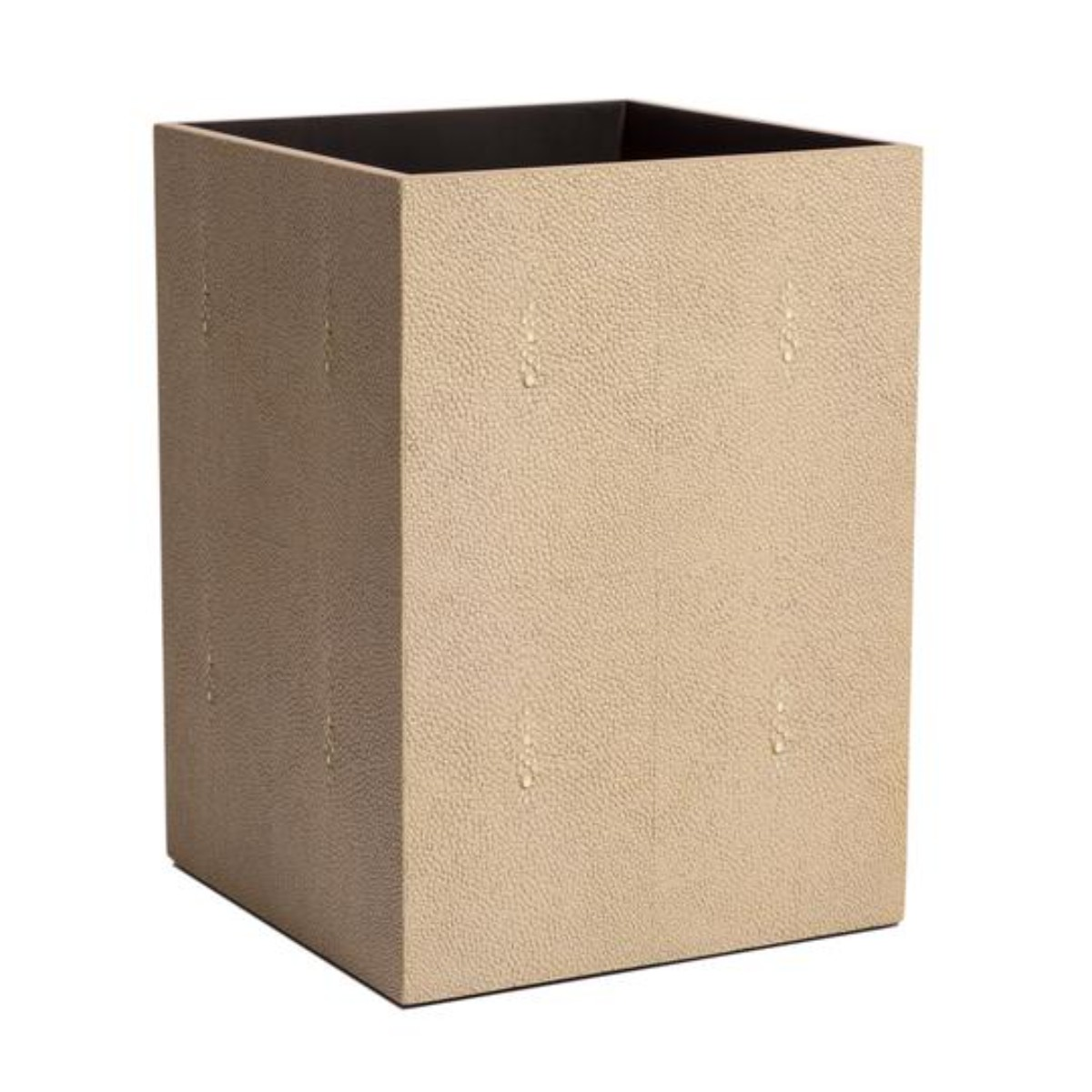 Posh Trading I Chelsea Waste Paper Basket | Faux Shagreen Natural