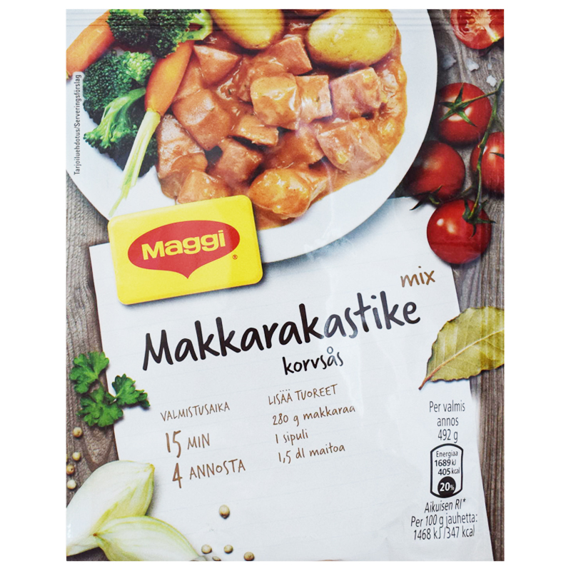 Makkarakastike Ateria-ainekset - 17% alennus