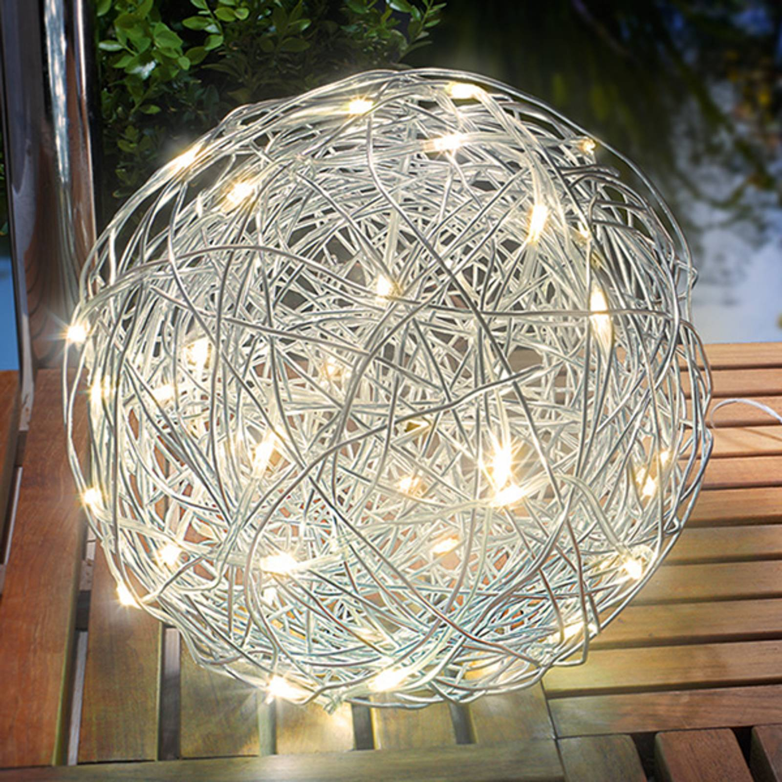 Aurinkokäyttöinen LED-valaisin Alu-Wireball
