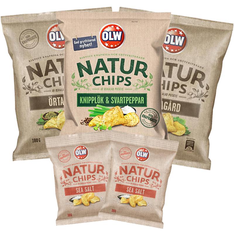 Naturchips 5-pack - 43% rabatt