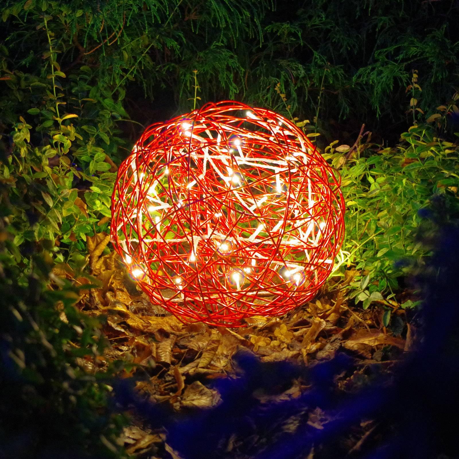 Galax Fun -LED-3D-design-pallo, Ø 30 cm, punainen