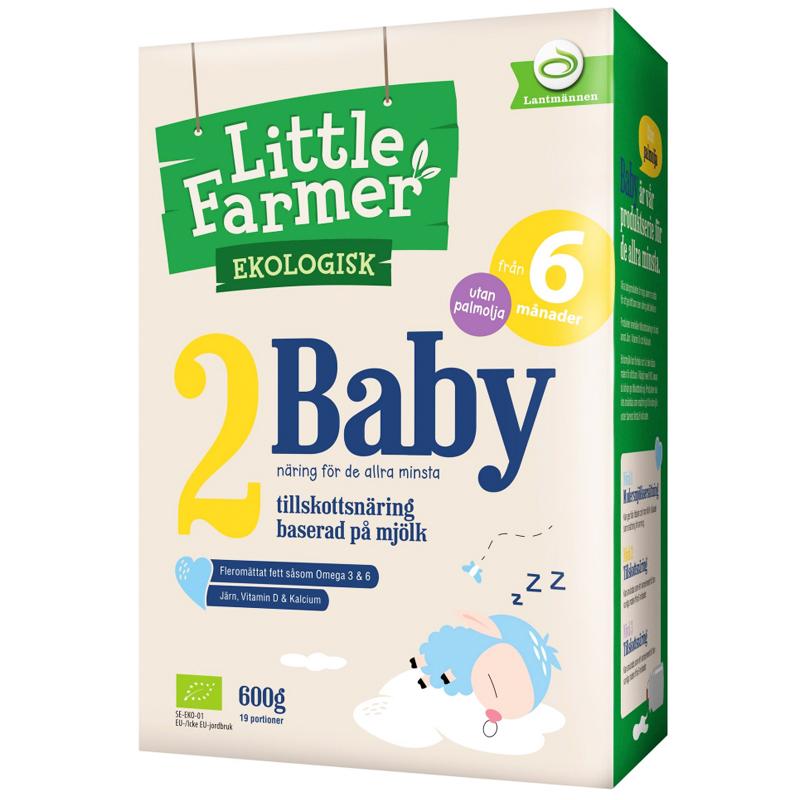 """Eko Tillskottsnäring """"2 Baby"""" 600g - 85% rabatt"""