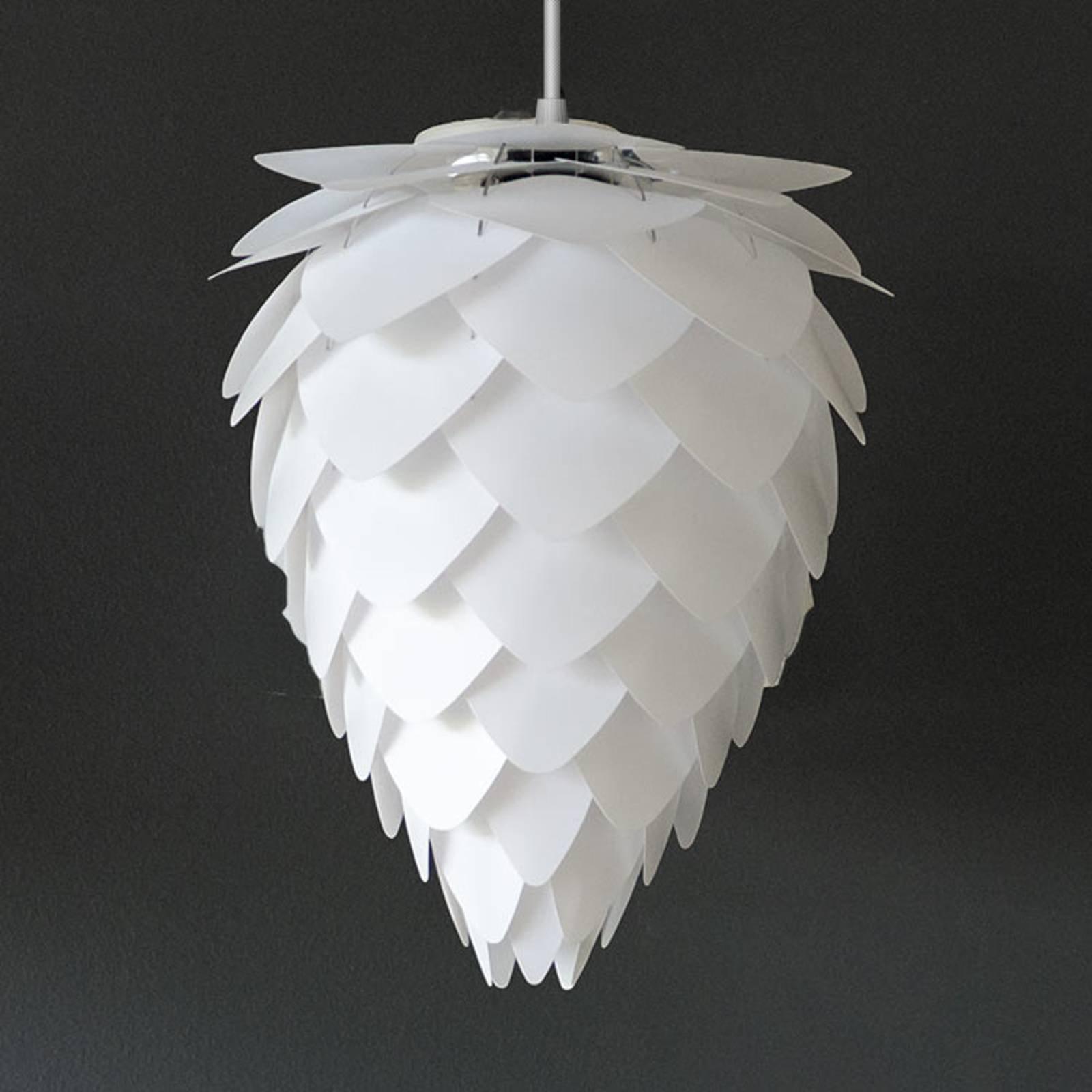 Kjegleformet skjerm - pendellampe Conia mini hvit