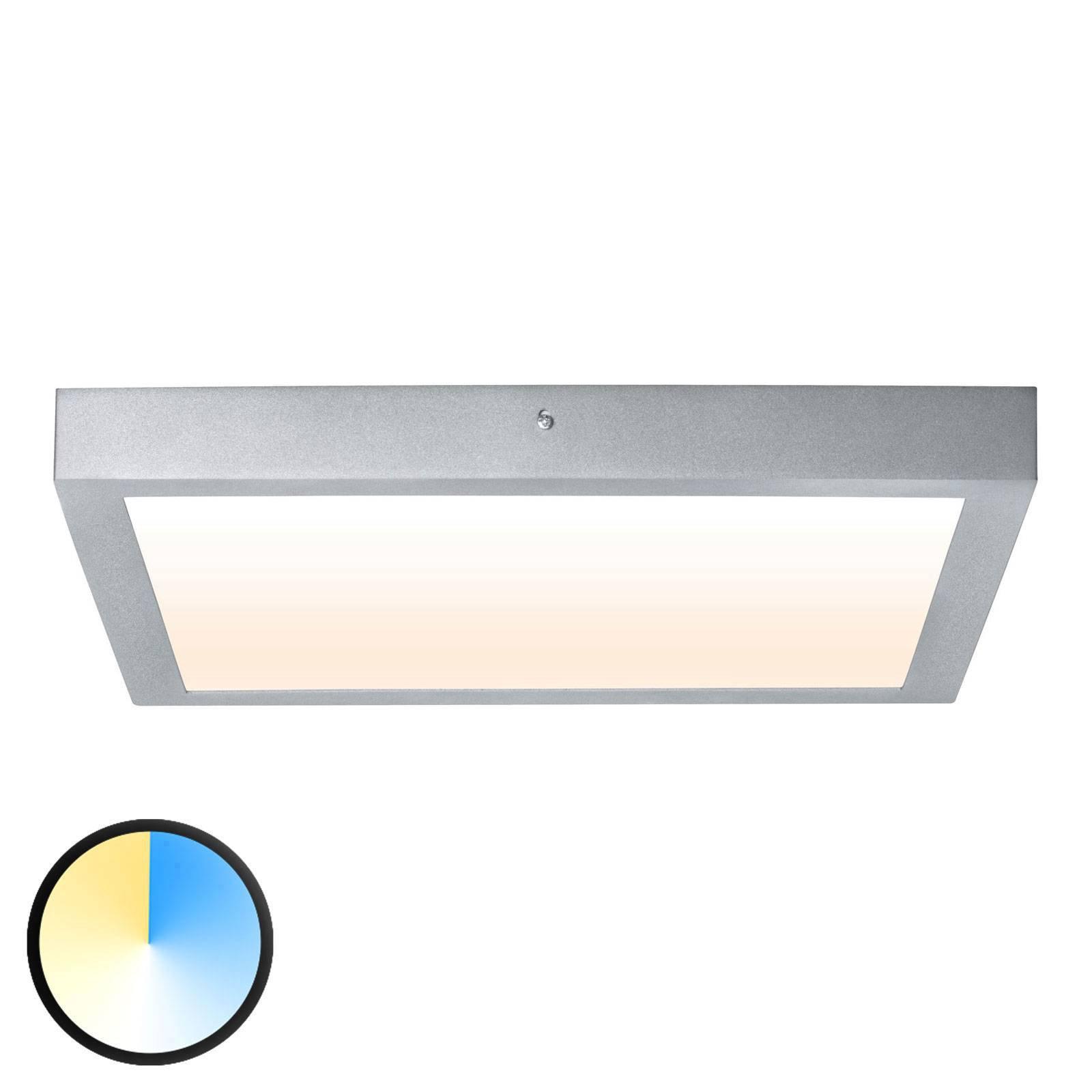Paulmann Carpo LED-taklampe krom 40x40 cm