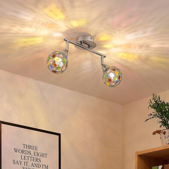 Lindby Dottys -kattovalaisin, kaksilamppuinen