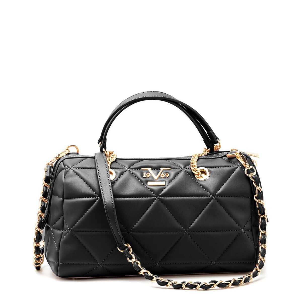 19v69 Italia Women's Handbag Various Colours 319004 - black UNICA